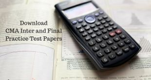 CMA Practice Test Papers Dec 2016 ICWAI Inter and Final