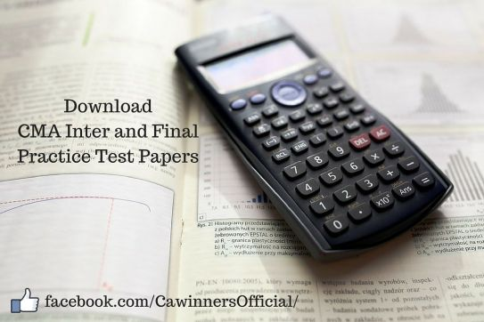 CMA Practice Test Papers Dec 2015 ICWAI Inter and Final