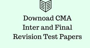 CMA Revision Test Papers Dec 2015 Inter and Final