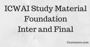 CMA Study Material Foundation Inter Final Dec 2016
