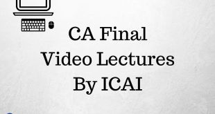 CA Final Video Lectures For May 2017 Online Classes