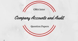 CMA Inter Company Accounts and Audit Question Paper