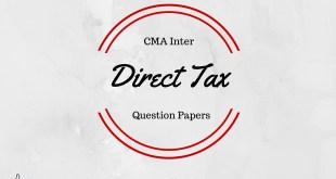 CMA Inter Direct Tax Question Paper Dec 2015