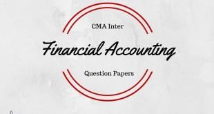 CMA Inter Financial Accounting Question Paper Dec 2015