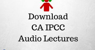Download CA IPCC Audio Lectures For Nov 2016