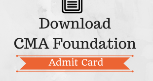 CMA Foundation Admit Card Dec 2017