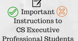 Instructions to CS Executive Professional Students Dec 2015