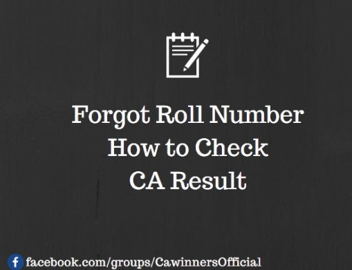 Forgot Roll Number | How to Check CA Result