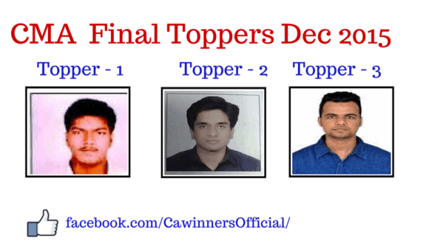 CMA Final Toppers Dec 2015