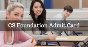 CS Foundation Admit Card Dec 2017