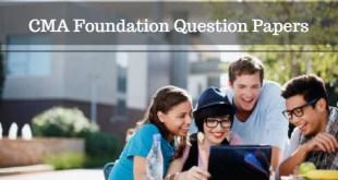 CMA Foundation Question Papers Dec 2016