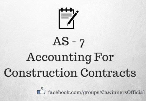 AS 7 Accounting For Construction Contracts Revised Notes