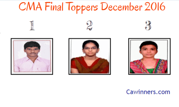 CMA Final Toppers December 2016