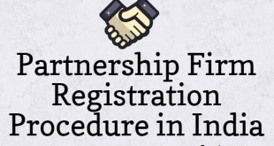 Partnership Firm Registration Procedure in India | Partnership Deed