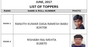 CS Professional Merit List Toppers June 2017
