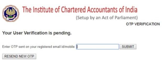ICAI OTP Verification
