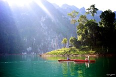 Cayaking in Khao Sok National Park, Thailand