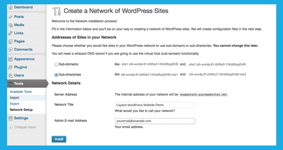 Caylent WordPress Multisite Demo