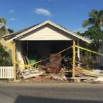 Historic house destroyed in car crash