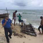 Cubans put to work dismantling boat