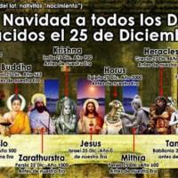Feliz 25 de diciembre nacimiento de Jesucristo... y de Buda... y de Krishna... y de Horus... mmhhh???
