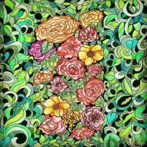 Rose Garden By Cazartco