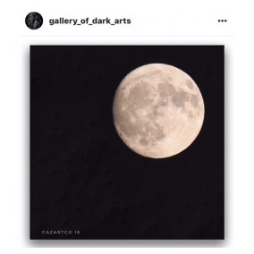 Mourning Moon featured by gallery of dark arts on Instagram