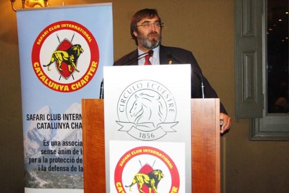 José María Losa, presidente del SCI Catalunya Chapter, durante su alocución.