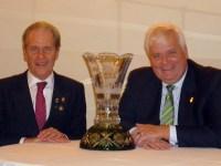 A la izquierda Eduardo Gerlero, y a la derecha Norbert Ullmann, director del Comité Ejecutivo de los Awards