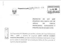 Presentado el Proyecto de Ley de Armas de Fuego en Perú