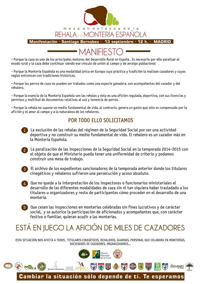 Manifiesta manifestación rehalas madrid