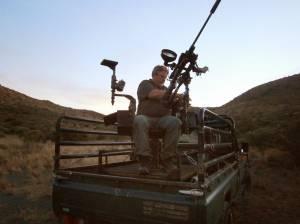 sudáfrica silla para disparo rifle desde vehículo