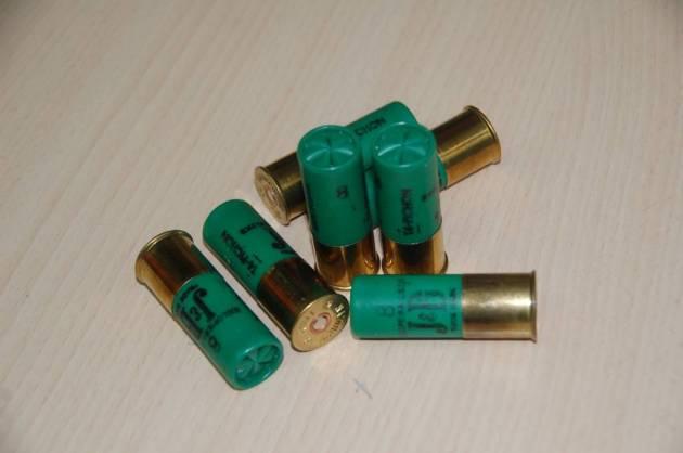 Cartucho plomo munición