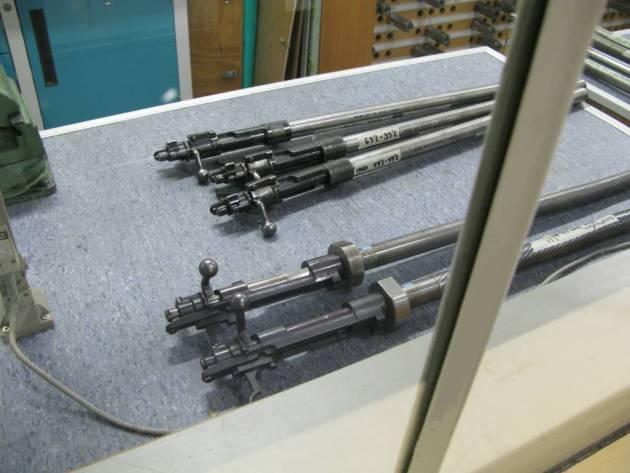 Cañones probeta Los cañones probeta para la prueba de las diferentes cargas y cartuchos son en general acciones M-98.