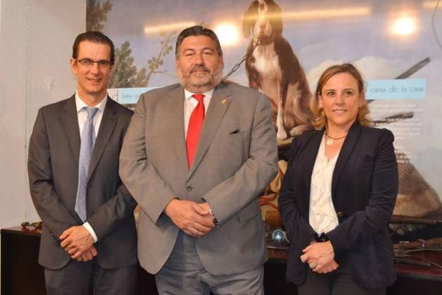 Dolores Rubio, Pedro Acevedo y Luis Fernando Villanueva.