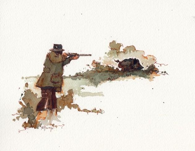 cazador de Mariano Aguayo