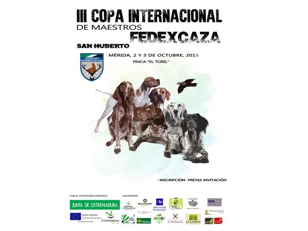 Cartel III Copa Maestros San Huberto