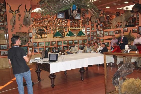 Un momento del acto de presentación del Club de Cazadores Premium Hunts.
