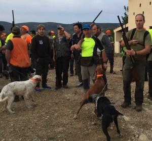 Jornada deportiva de caza menor con perro organizada por la Federación de Caza