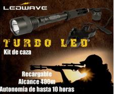 Kit de linterna de caza. Ledwave. También disponible linterna profesional para rastreo de sangre. Puedes encontrarlas en armerías o en http://www.ardesa.com/