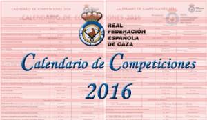calendario 2016 competiciones RFEC 2016