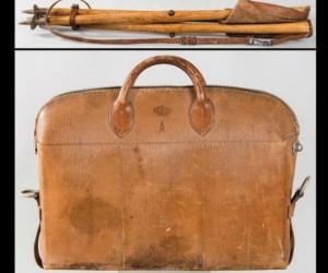 Silla y bolsa de caza de Alfonso XIII. SUBASTAS SEGRE.