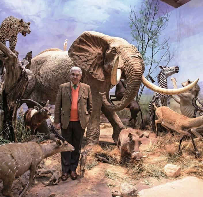 Eduardo Romero en el museo