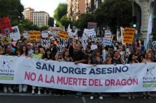 Animalistas intentarán impedir que San Jorge mate al dragón