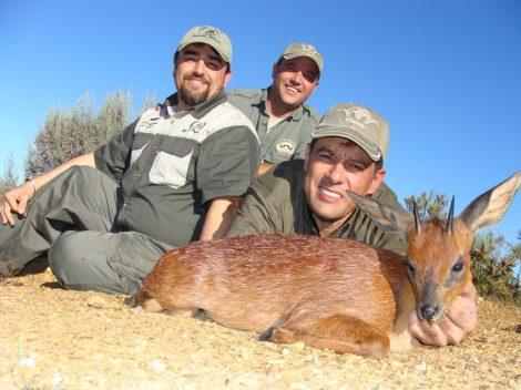 western cape áfrica Equipo complaeto con Fernando Campillo  Adam Barnard y el Cape Grysbok