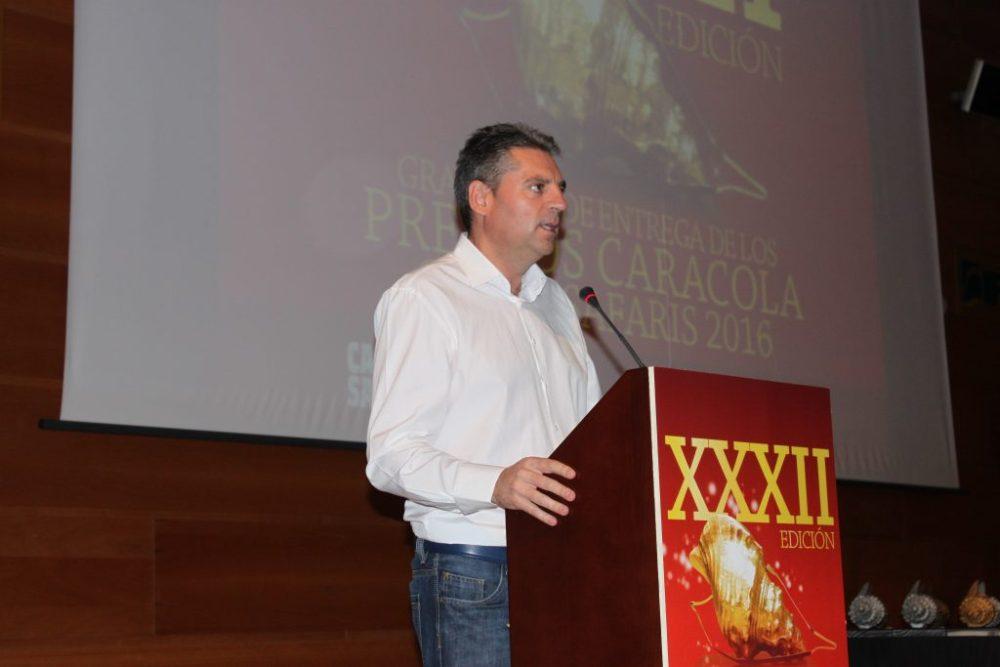 Ángel Vera, diputado provincial de Jaén y presidente de IFEJA durante su intervención en este acto.