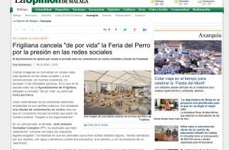 Presiones animalistas logran cancelar la Feria del Perro de Frigiliana