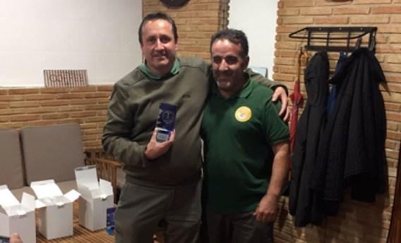 Felipe García-Pardo Sánchez, subcampeón, con Faustino Saelices Frontón, presidente de la Asociación Cetrera Amigo Félix SMV.