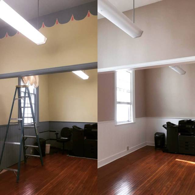 Workroom painted and looking good Presbyterian transformation