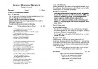Bulletin for Jan. 17